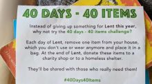 Will you be taking the #40days40items challenge this Lent?