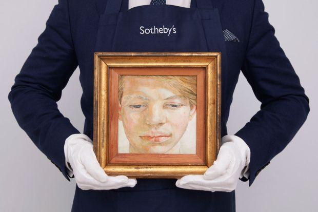 Head of a Boy: Lucian Freud's portrait of Garech Browne sold for the equivalent of €137,000 per square inch at Sotheby's