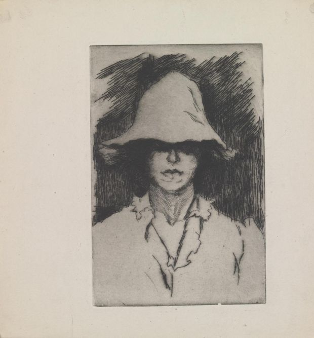 Estella Frances Solomons, Self-Portrait, etching. Courtesy the estate of Estella Solomons/board of Trinity College Dublin