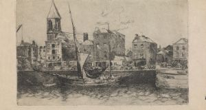 Estella Frances Solomons, City Quay, Dublin, etching. Courtesy the estate of Estella Solomons/board of Trinity College Dublin