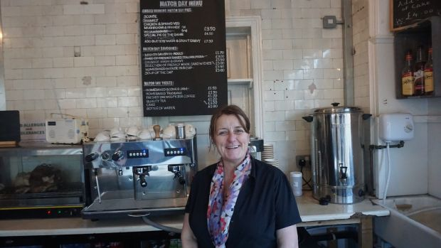 Angela McKay manages Homebaked, a cafe just opposite Anfield. It is among the community enterprises trying to make a difference to those in need in Liverpool.