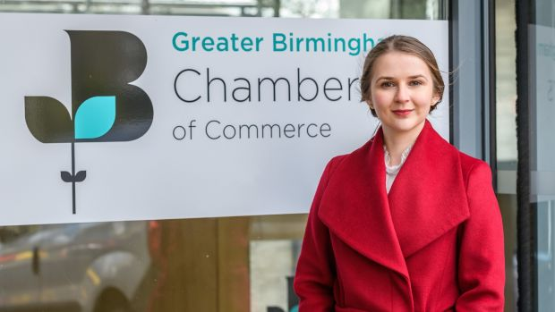 Henrietta Brealey of Greater Birmingham Chamber of Commerce, which runs an online Brexit Health Check for its members. Photograph: Simon Hadley