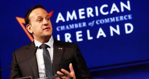 An Taoiseach Leo Varadkar at the launch of the 2019 US Ireland Business Report. Photograph: Conor McCabe Photography.