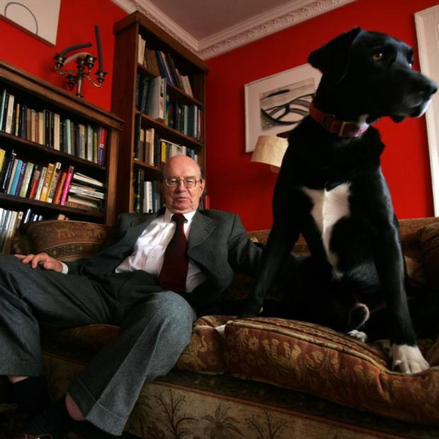 Anthony Cronin: the writer with his dog Butler in 2004. Photograph: Frank Miller