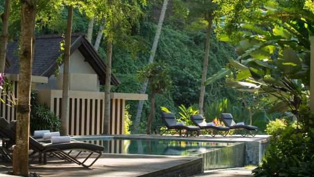 Luxury villas along the River Ayung in Bali