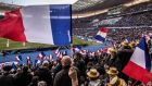 French supporters at the Six Nations Championship Round 3 match between France and Scotland at  Stade de France, Paris, in February. Photograph: James Crombie/Inpho