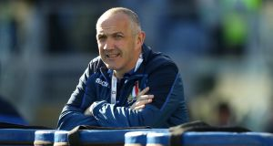 Italy head coach  Conor O'Shea has backed proposals for a Nations Championship. Photograph:  David Rogers/Getty Images