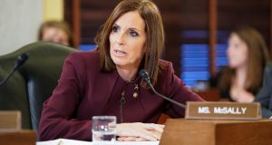Republican senator Martha McSally   speaking on Wednesday during a Senate armed services committee  hearing on sexual assault in the military. Photograph: Joshua Roberts/Reuters