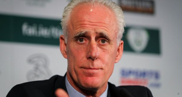 Republic of Ireland manager Mick McCarthy: 'I'd sooner have someone who, if a chance falls to him, might just put it in the net.' Photograph: Ryan Byrne/Inpho