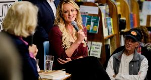Stormy Daniels interviewed at Politics and Prose in Washington in December.  File photograph: TJ Kirkpatrick/The New York Times