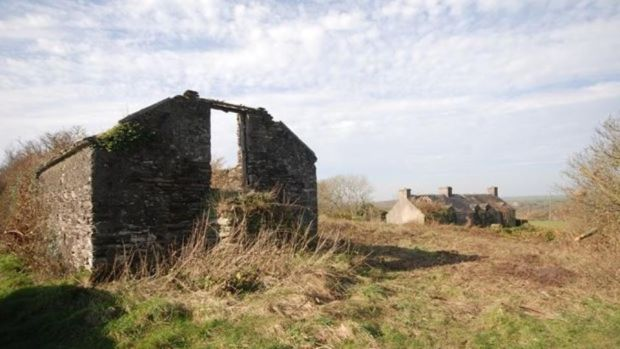 Gortnalicky: the ruined cottage that comes with the tumbledown farmhouse on Ringarogy Island in west Co Cork