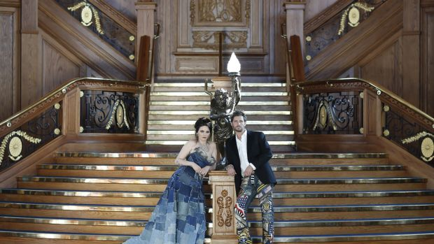 Titanic Denim: repurposed denim wedding dress made in Belfast