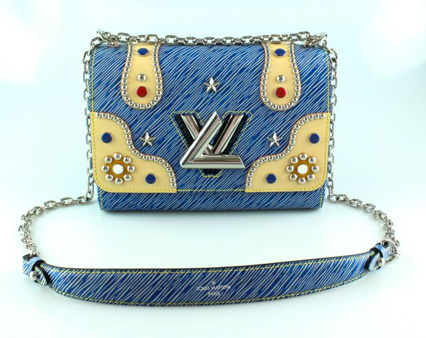 1a7c2b9a2080 Louis Vuitton: Limited edition denim twist MM epi leather and studs €2,399  (RRP