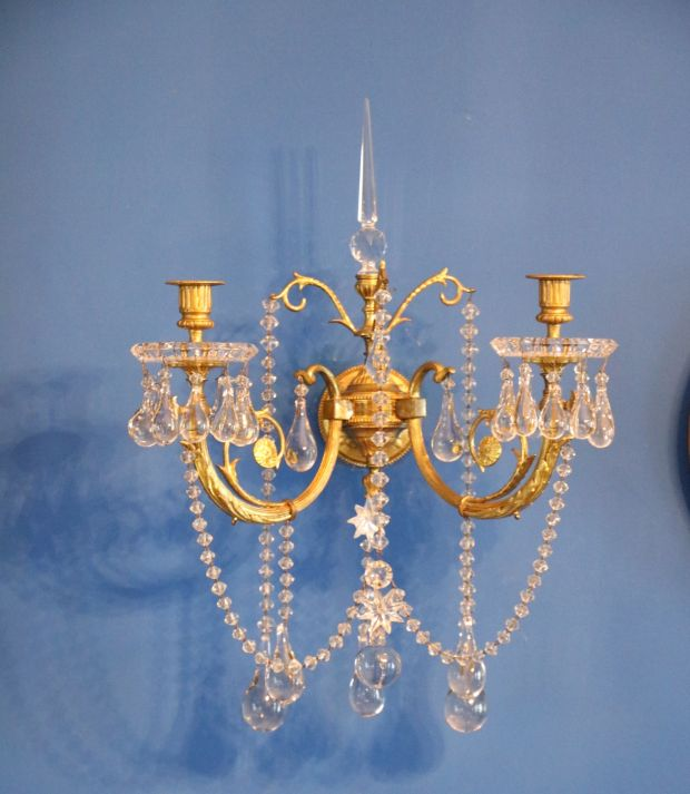 Lot 239, Baccarat crystal wall sconces