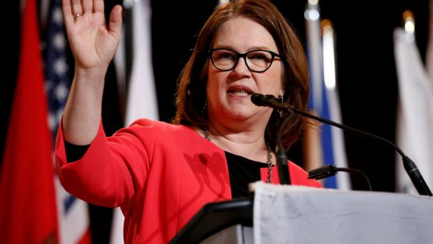 Jane Philpott, who resigned this week from Justin Trudeau's cabinet. Photograph: Chris Wattie/Reuters