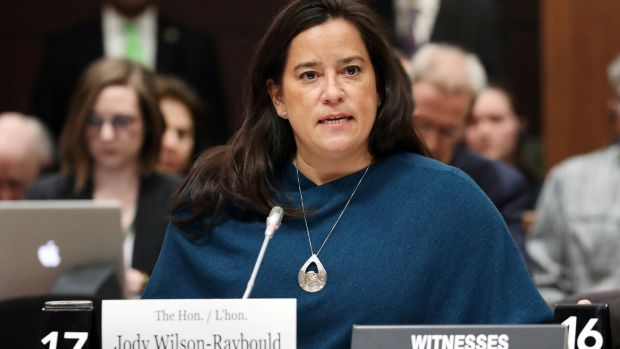 Liberal MP and former Canadian attorney-general Jody Wilson-Raybould testifies before the House of Commons justice committee on February 27th. Photograph: Chris Wattie/Reuters