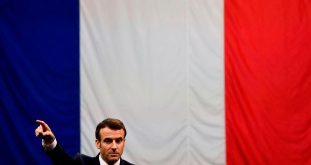 French president Emmanuel Macron: wants an expansion of EU powers in exactly the kind of way that makes many Europeans feel alienated.  Photograph: Christophe Simon/AFP