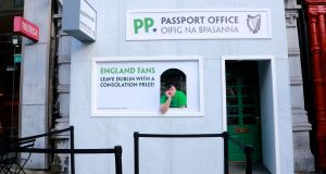 Paddy Power's pop-up 'passport office' on the day of the Ireland versus England rugby match.