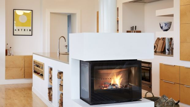 A Rocal wood-burning stove from Wilsons in Belfast