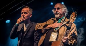 Cool for cats: Iarla Ó Lionáird and Steve Cooney play the Set Theatre, Kilkenny on St Patrick's Day as part of Kilkenny Tradfest