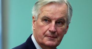 European Union's chief Brexit negotiator Michel Barnier sent a series of messages on Twitter following a meeting with ambassadors from 27 EU states. File photograph: Reuters