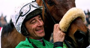 Davy Russell with Presenting Percy. Photograph: Tommy Dickson/Inpho