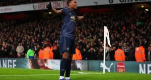 Anthony Martial could return for Manchester United against Arsenal. Photograph: Catherine Ivill/Getty