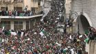 Algerians gather for a demonstration in Algiers on  Friday against President Abdelaziz Bouteflika's hold on power. Photograph: Fateh Guidoum/AP