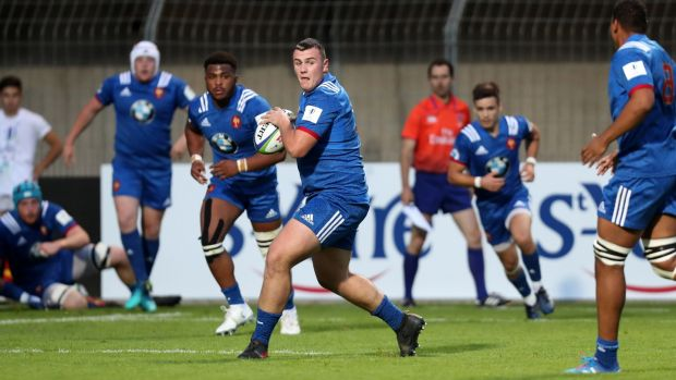 Daniel Brennan of France during the U20 World Championship match between France and Ireland in May 2018 in Perpignan. Photograph: Manuel Blondeau/Icon Sport via Getty Images