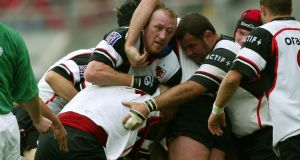 Trevor Brennan in action for Toulouse in the Heineken European Cup Semi-Final in 2003. Photograph: Billy Stickland/Inpho