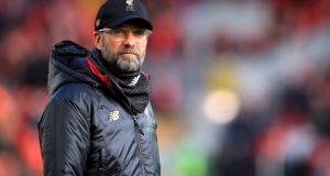 Liverpool manager Jurgen Klopp: he insists he has not curbed Liverpool's attacking nature.   Photograph:  Peter Byrne/PA Wire