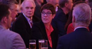 "CDU's  Annegret Kramp-Karrenbauer: ""European centralism, European statism, communitising debt and Europeanising social security systems and minimum wage would be the wrong approach."" Photograph: Sean Gallup/Getty"