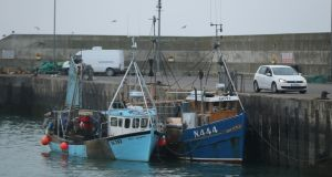 Two Northern Ireland registered fishing boats seized by Naval Service   in  February. Photograph: Niall Carson/PA Wire