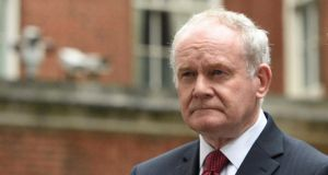Martin McGuinness died in 2017 at the age of 66. Photograph: Facundo Arrizabalaga/EPA