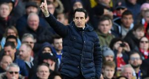 Arsenal manager Unai Emery is beginning to make the Emirates a fortress. Photograph: Getty Images