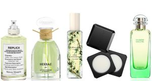 Gorgeous spring perfumes:  Maison Margiela Replica Under the Lemon Trees, Herbae Par L'Occitane, Jo Malone London Cade & Cedarwood Cologne and Fragrance Combining Palette, and Hermès Un Jardin sur le Nil