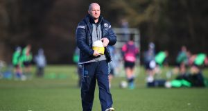 Scotland head coach Gregor Townsend during a training session at the Oriam in Edinburgh. Photograph: Ian MacNicol/Getty Images