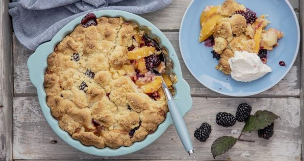 Fruit cobbler. Photograph: Harry Weir
