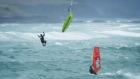 Daring windsurfers battle stormy conditions in Donegal