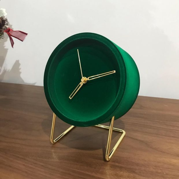 This flock clock from Pieces is perfect for your bedside table