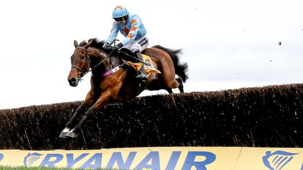 Ruby Walsh and Un De Sceaux fly to victory in the 2017 Ryanair. Photograph: Dan Sheridan/Inpho