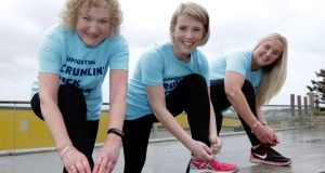 Eleanor Mooney, Aoife Cahill Mannion and Audrey McGill are encouraging women to walk, jog or run the VHI Women's Mini Marathon in Dublin on Sunday, June 2nd, for some of Ireland's sickest children