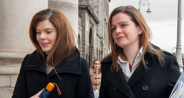 Colette and Brenda Quinn, daughters of Sean Quinn, are part of a dispute between Mr Quinns' five children and the IBRC, concerning loans of €2.34bn