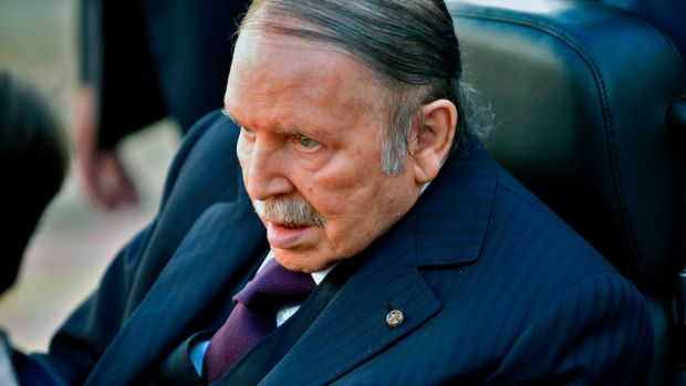 Photo taken on November 23rd, 2017, of Algerian president Abdelaziz Bouteflika in Algiers. Photograph: Ryad Kramdi/AFP/Getty Images