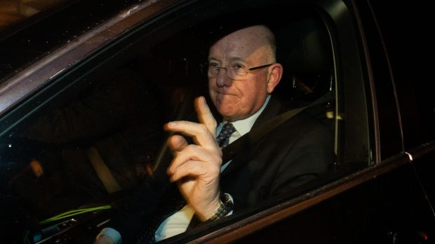 Minister for Justice Charlie Flanagan leaving Government Building in Dublin after an emergency Cabinet meeting. Photograph: Tom Honan/PA Wire.