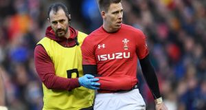 Wales fullback Liam Williams  suffered a stinger injury in the victory over Scotland at Murrayfield. Photograph:  Stu Forster/Getty Images