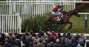 Keith Donoghue riding Tiger Roll clear of the last to win The Glenfarclas Steeple Chase at Cheltenham last year. Photograph: Alan Crowhurst/Getty