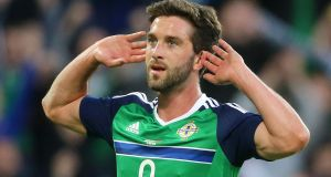 Will Grigg: back in the Northern Ireland squad for the games against Estonia and Belarus. Photograph: Niall Carson/PA