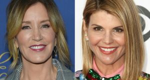 Actors Felicity Huffman (left) and  Lori Loughlin are among those charged in a cheating scandalls in US higher education. Photographs:  Lisa O'Connor  and Tommaso Boddi/AFP/Getty Images
