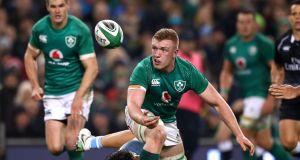 Ireland's Dan Leavy in action against Argentina in the Guinness Series at the  Aviva Stadium on November 2018. Photograph: James Crombie/Inpho